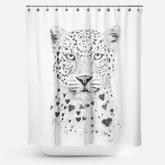 Cortina de Baño Lovely Leopard