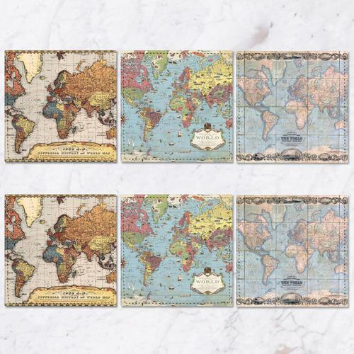 Posavasos Mapa Mundi Collection