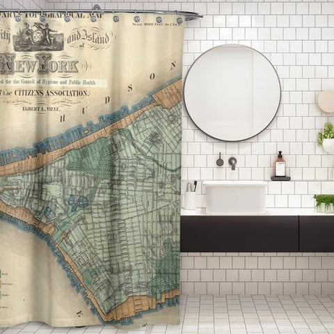 Cortina de Baño New York 1865