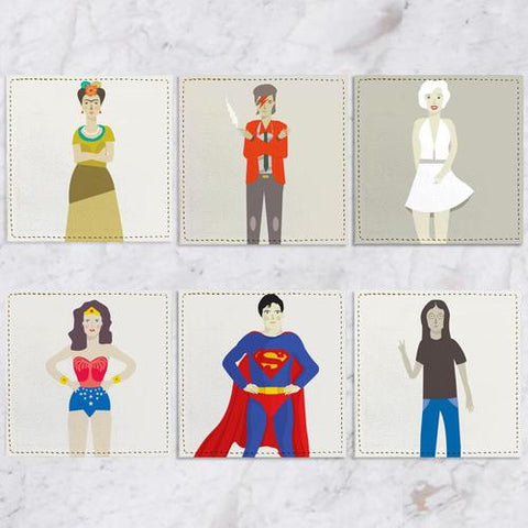 Posavasos Personajes Collection - Galeria Impresionarte