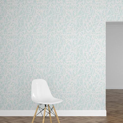 Papel Mural Triangle Blue
