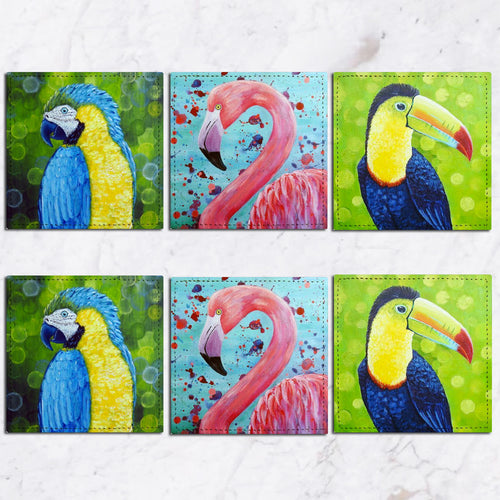 Posavasos Tropical Birds Collection