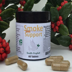 bottle of smoke support pills
