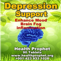 depression support brain in blue