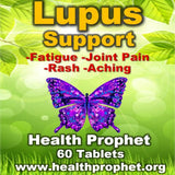 lupus Support with butterfly fatigue joint pain rash aching health prophet