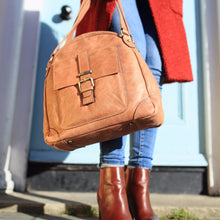 Leather Crossbody Bag, Shoulder Bag, Leather Handbag, Leather Crossbody Purse, Tan Leather, antique brass hardwear,