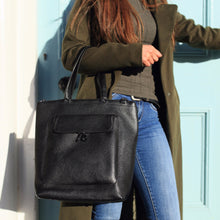 Black Leather Tote Bag, Black Leather Purse, Black Leather Handbag, Black Leather Shoulder Bag, Nichola Jane Collection,