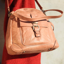 Leather Crossbody Bag, Shoulder Bag, Leather Handbag, Leather Crossbody Purse, Tan Leather, antique brass hardwear, luxurious handbag lining,