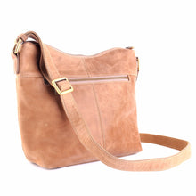 Brown Leather Shoulder Bag from Irish Designer Nichola Jane, Tan Leather Shoulder Bag, Tan Leather Crossbody Bag, Brown Leather Crossbody Bag