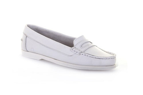 Sally Penny Loafers White