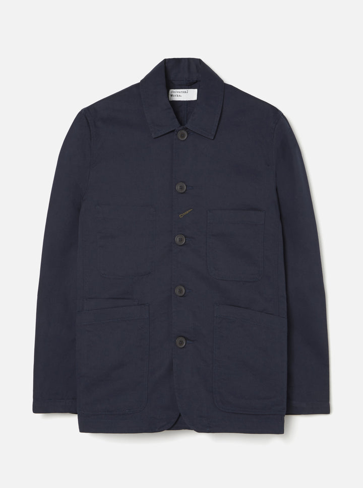 Universal Works Twill Bakers Jacket - Navy