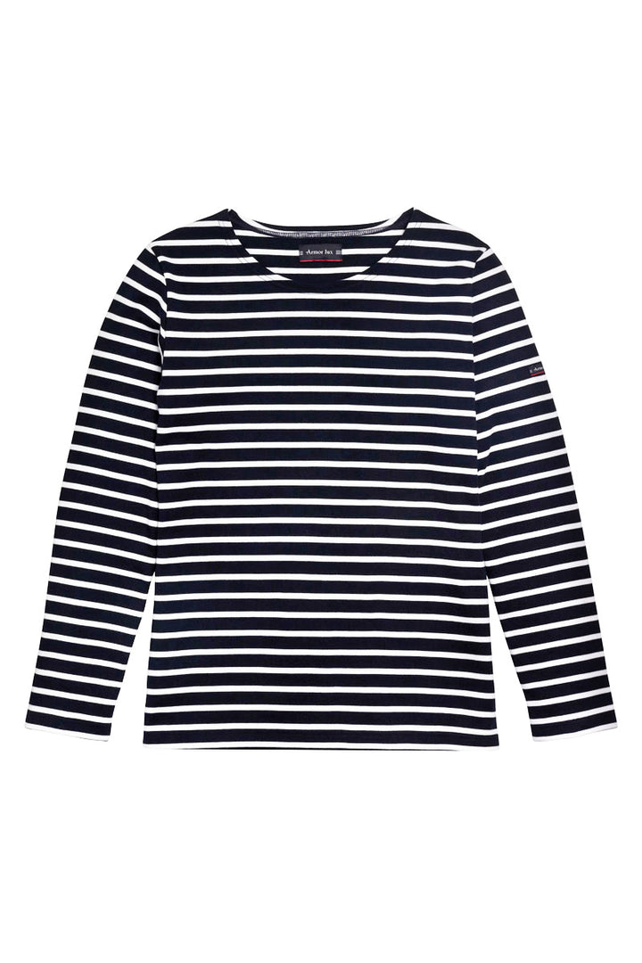 Armor-Lux Women Long Sleeved Lesconil Striped Shirt - Rich Navy/White