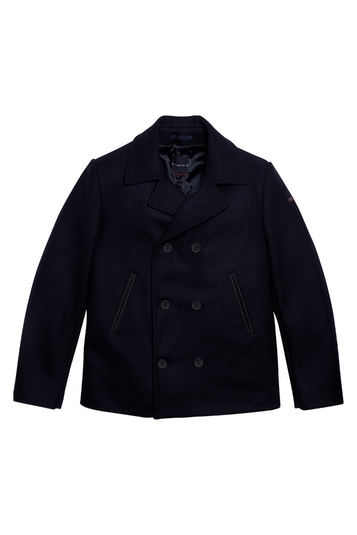 Armor-Lux Bi-Colour Peacoat - Navy/Aluminium