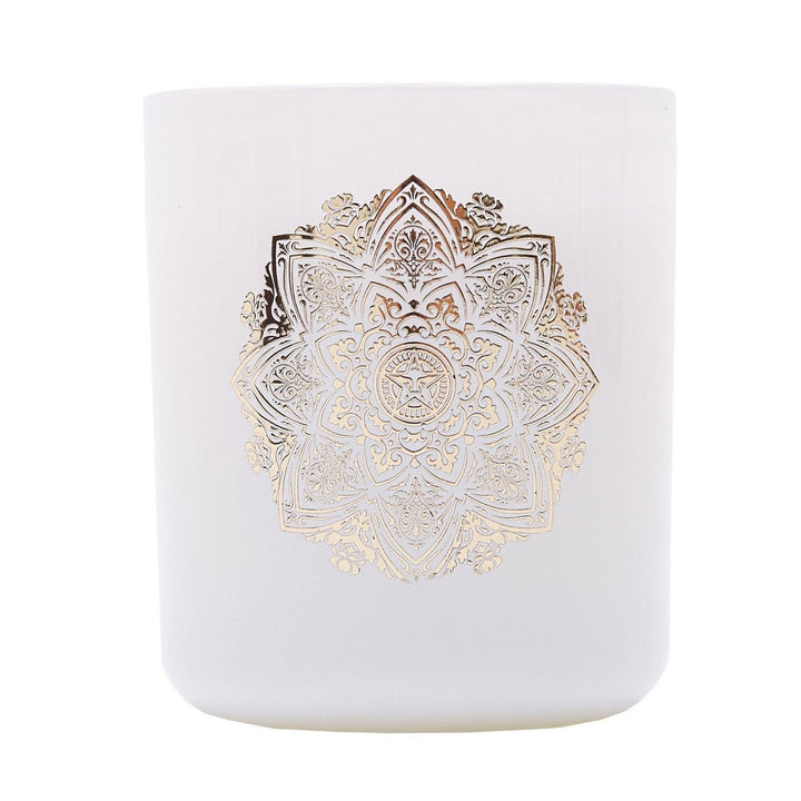 Obey Mandala Candle - White