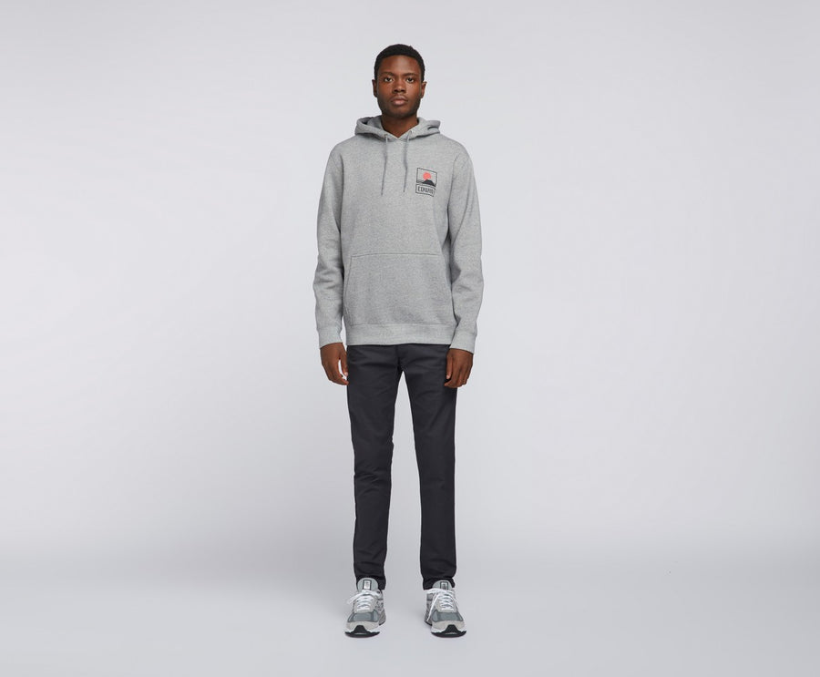 Edwin Sunset on Mt Fuji Hoodie Sweat - Mouline Grey