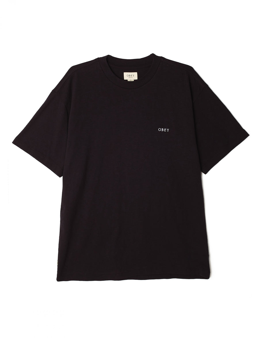 Obey Ideals Organic Slub T-Shirt - Black