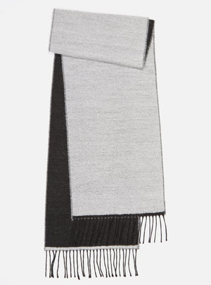 Universal Works Scarf - White/Black