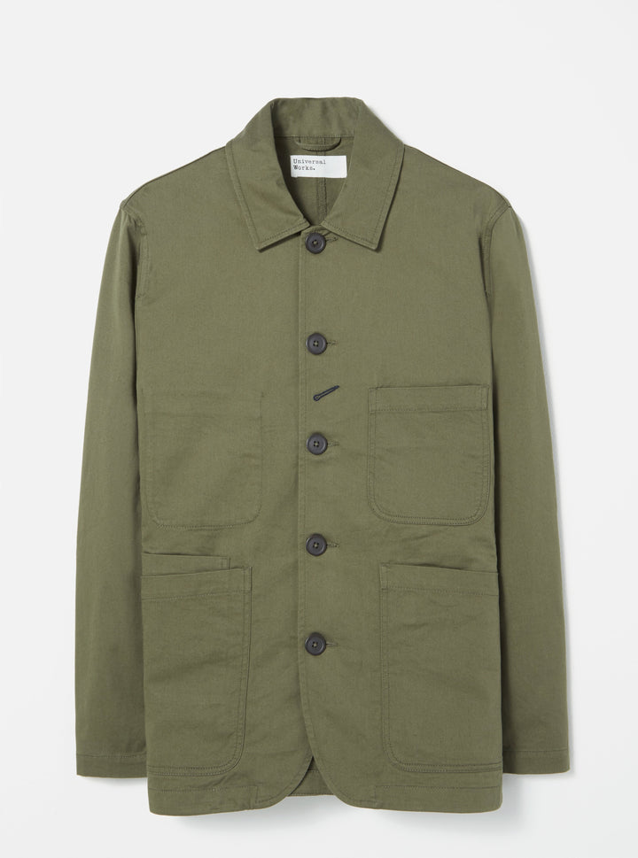 Universal Works Twill Bakers Jacket - Light Olive