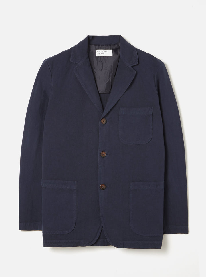 Universal Works Three Button Jacket - Navy