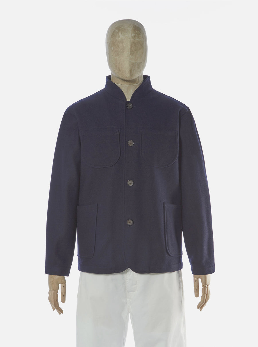 Universal Works Nehru Jacket - Navy
