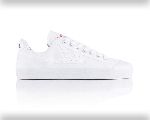 Warrior Basketball Shoes: Classic Low - White/White