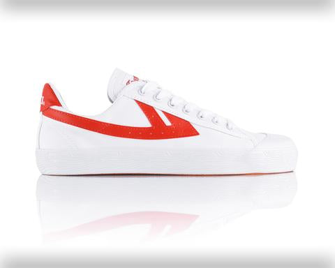 Warrior Basketball Shoes: Classic Low - White/Red