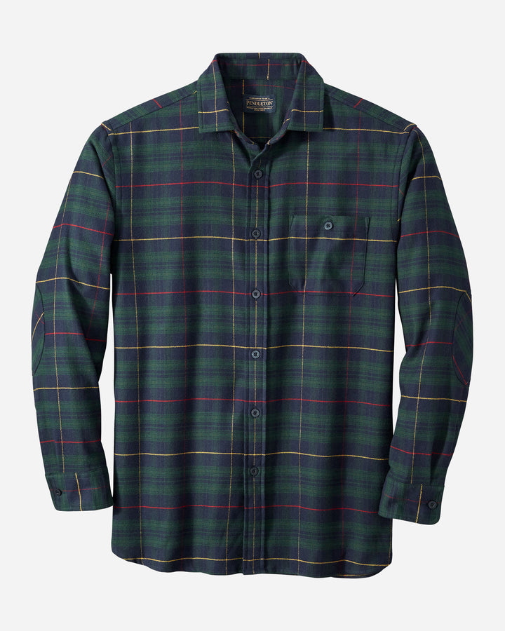 Pendleton Cascade Shirt - Green/Navy/Red Plaid
