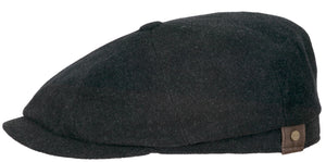 Stetson Cap - Hatteras Wool/Cashmere - Charcoal Grey