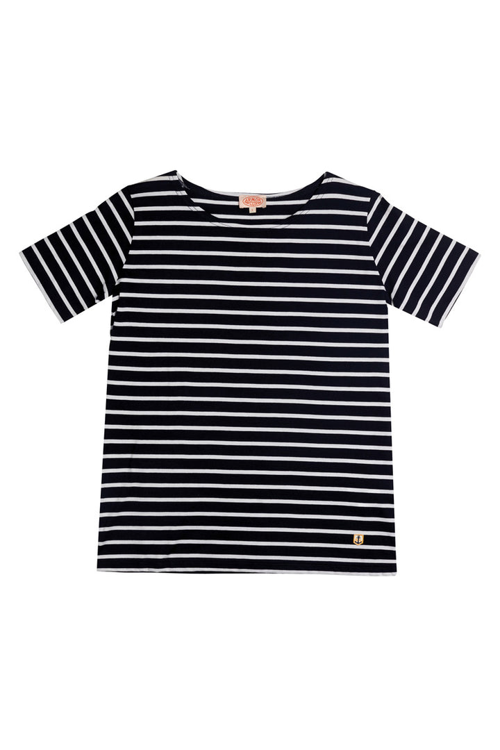 Armor-Lux Women S/S Sailor Shirt - Rich Navy/White
