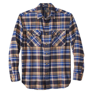 Pendleton Burnside Flannel Shirt - Navy/Blue/Red Plaid