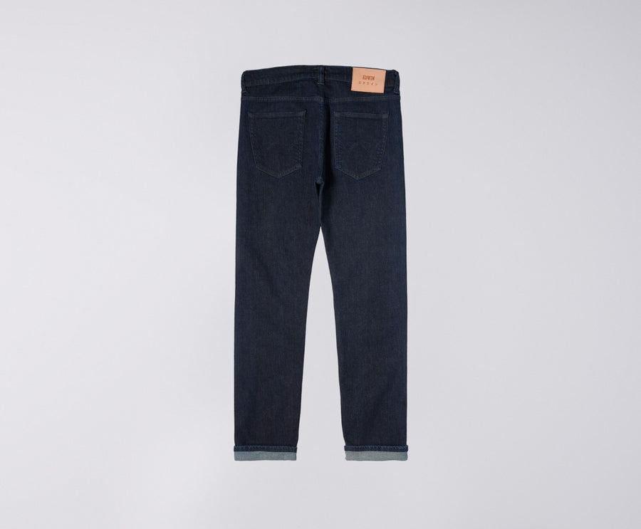 Edwin ED-80 Jeans CS Red Listed Blue Denim - Blue Rinsed
