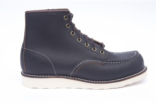 "Red Wing 6"" Moc Toe Boot - Black 08849"