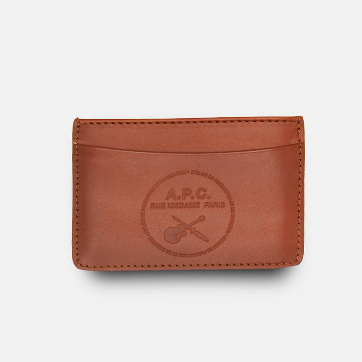 A.P.C. Andre Guitare Card Holder Wallet - Noisette