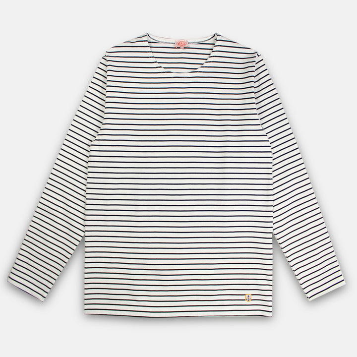 Armor-Lux Breton Striped Shirt - Milk/Navy