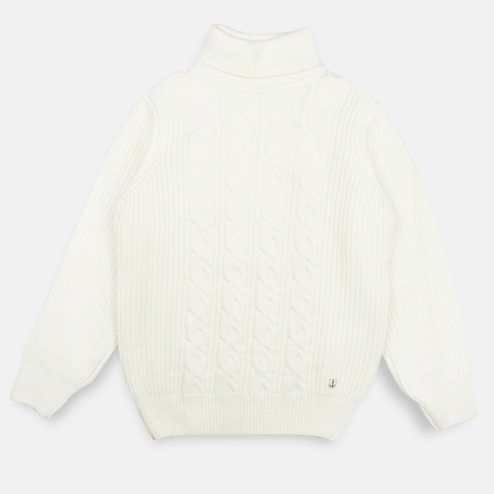 Armor-Lux Cable Rollneck Sweater - Nature