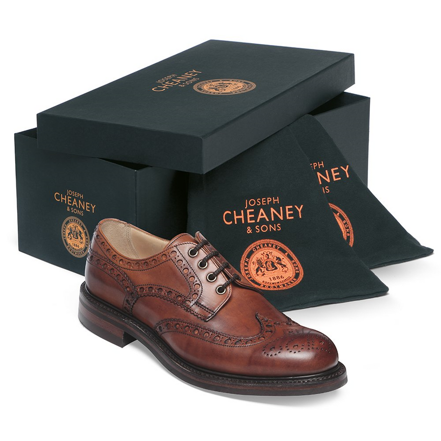 Joseph Cheaney & Sons Avon R Country Brogue - Dark Leaf