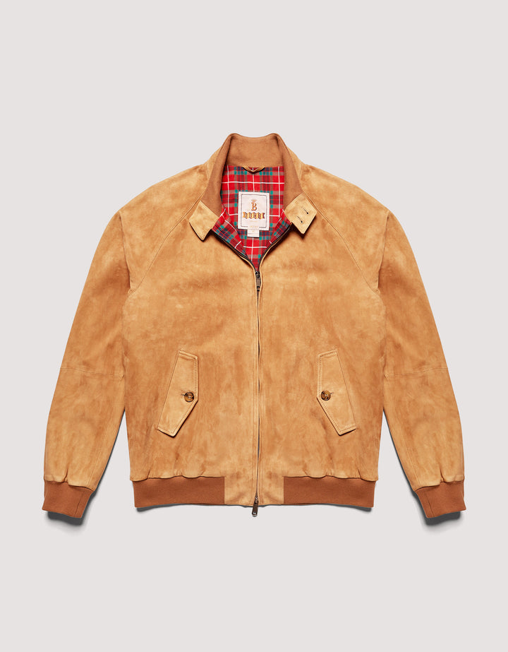 Baracuta G9 Harrington Jacket - Suede Tobacco