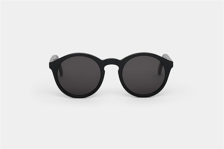 Monokel Eyewear Barstow Black Sunglasses - Solid Grey Lens