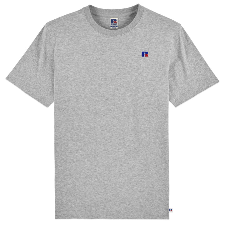 Russell Athletic Baseliners Logo T-Shirt - New Grey Marl
