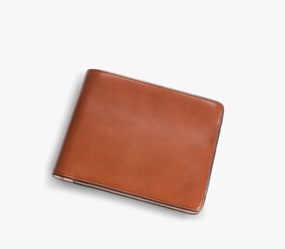 Il Bussetto Button Bi-Fold Wallet - Conker