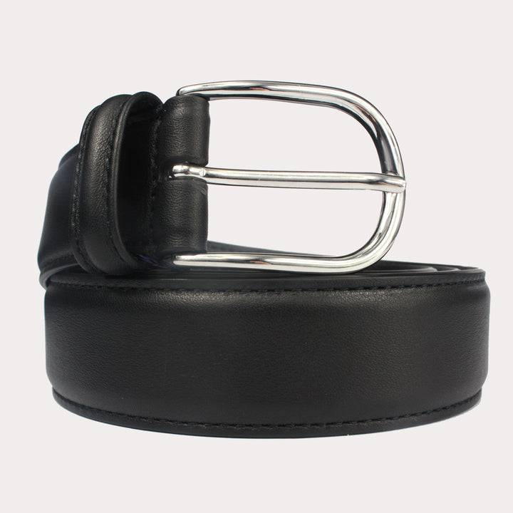 Andersons Leather Belt - Black Smooth