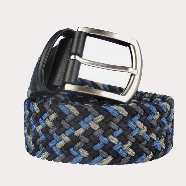 Andersons Woven Textile Belt - Shades of Grey & Blue