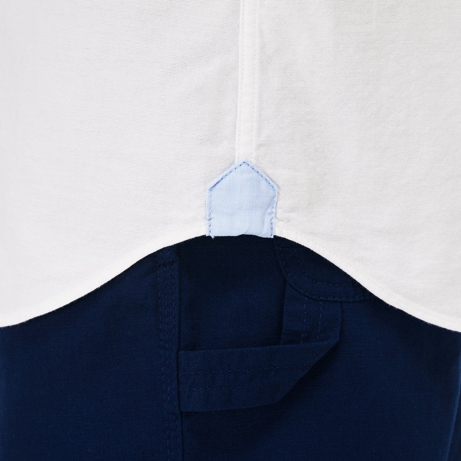 Lacoste Button Down Oxford Shirt - White