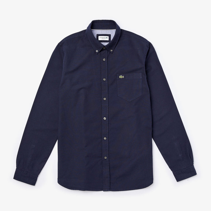 Lacoste Button Down Oxford Shirt - Navy Blue