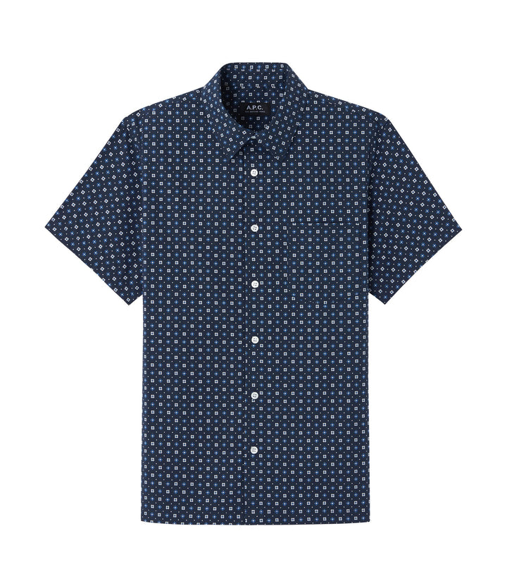 A.P.C. Short Sleeve Cippi  Shirt - Navy