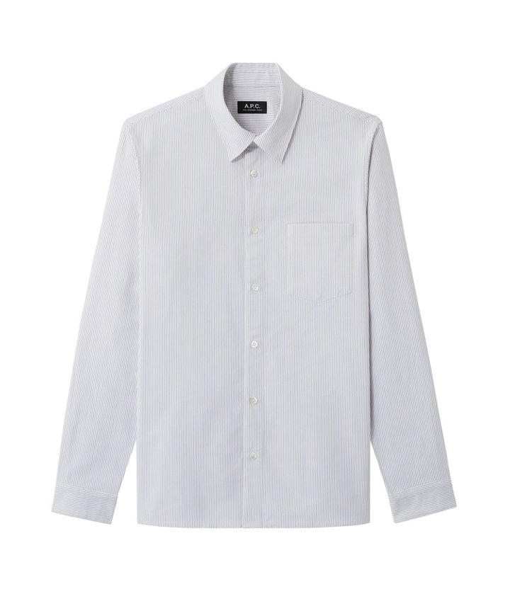 A.P.C. Wilko Shirt - Blue Stripe