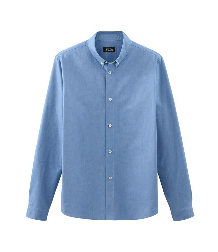 A.P.C. Button Down Shirt - Blue