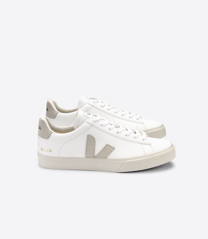 Veja Women Campo Chromefree Trainer - White/Natural Suede