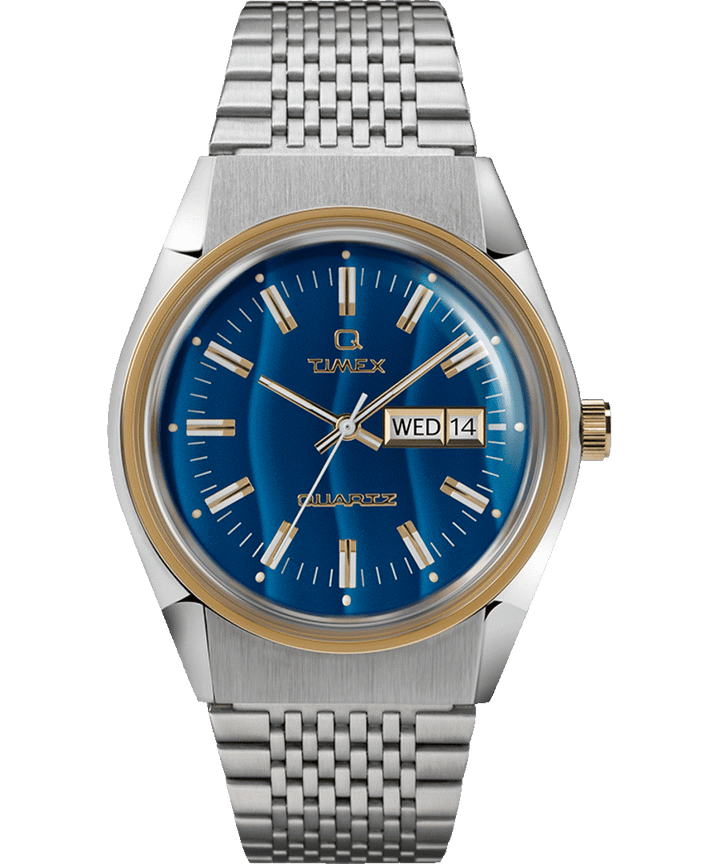 Timex Archive Q Reissue Blue Dress Watch - Falcon Eye 38MM Stainless Steel Bracelet