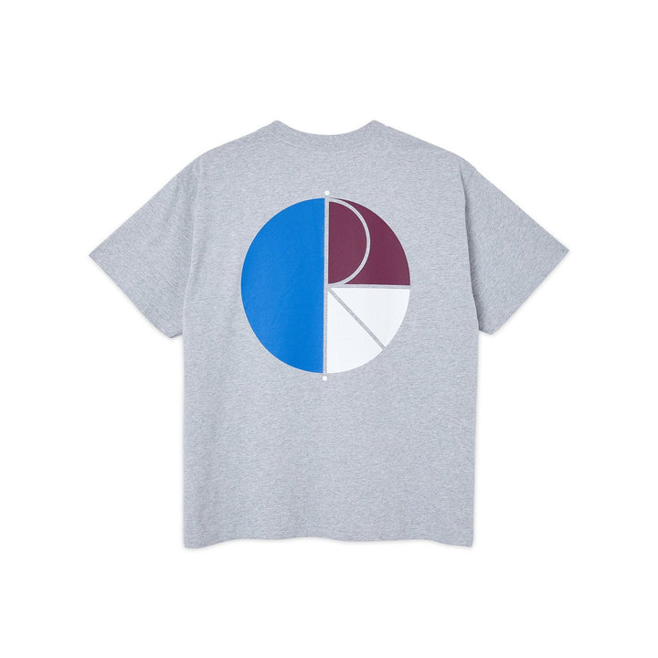 Polar Skate Co. 3 Tone Fill Logo T-Shirt  - Sport Grey